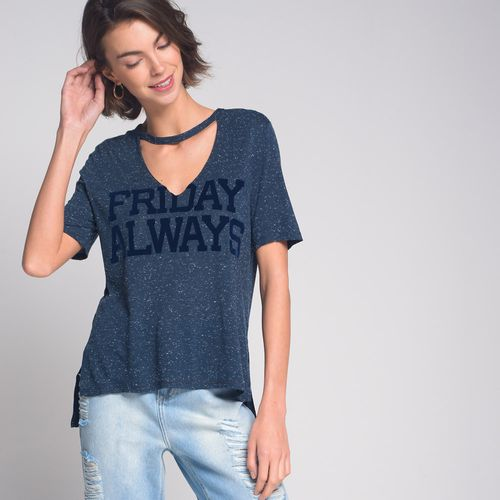 Camiseta-Botone-Chocker-Friday-Azul