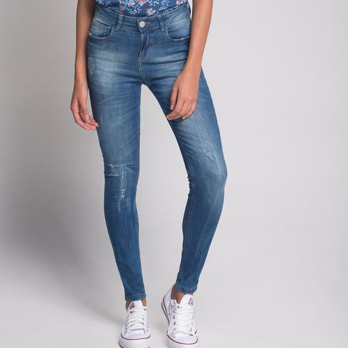 Calca-Skinny-Destroyed-Jeans-Escuro
