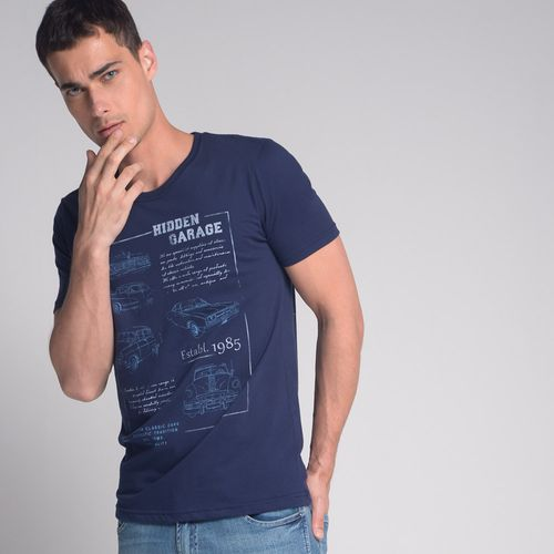 Camiseta-Hidden-Garage-Azul