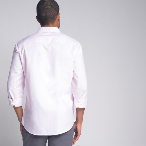 Camisa-Slim-Oxford-Rosa