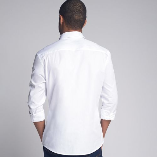 Camisa-Slim-Oxford-Branco