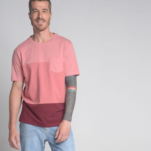 Camiseta-Color-Block-Bolso-Vinho-e-Rosa