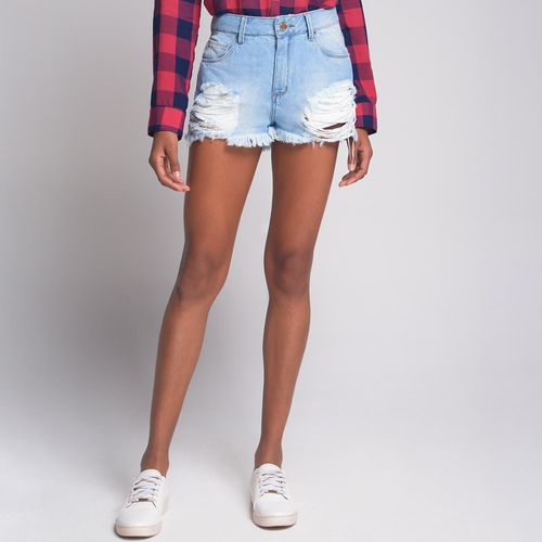 Shorts-Hotpants-Destroyed-Jeans-Azul-Claro
