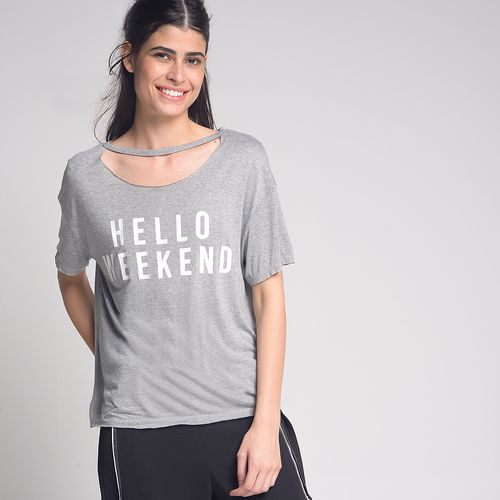 Camiseta-Hello-Weekend-Cinza