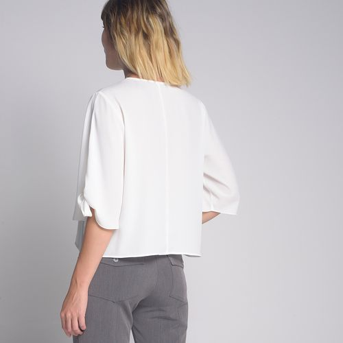 Blusa-Decote-V-Off-White