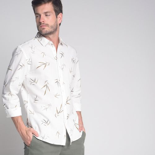 Camisa-Slim-Linho-Bambu-Estampado-Off-White---GG