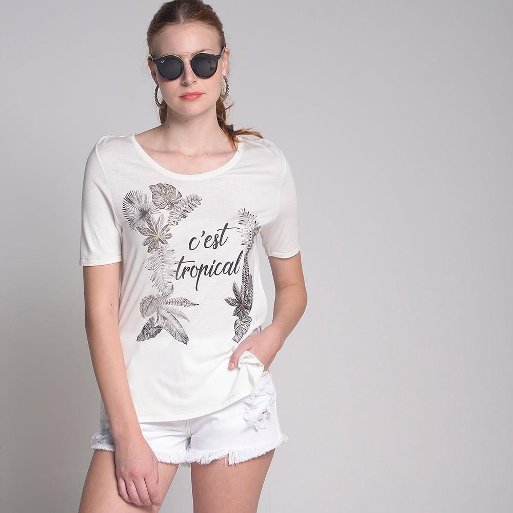 810d9781ed Camiseta C est Tropical Off White - luigibertolli