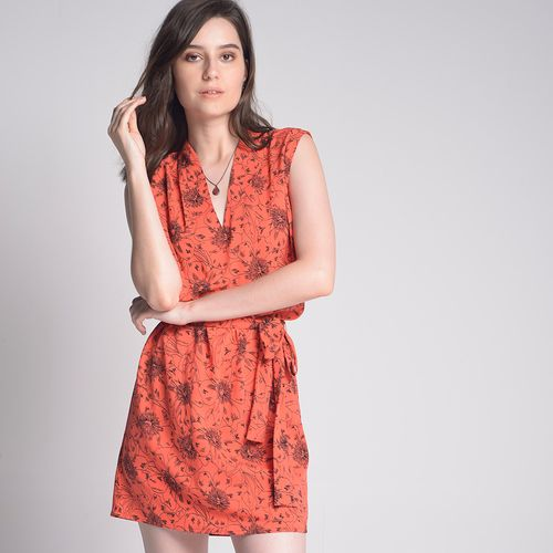 Vestido-Orange-Flower-Estampado