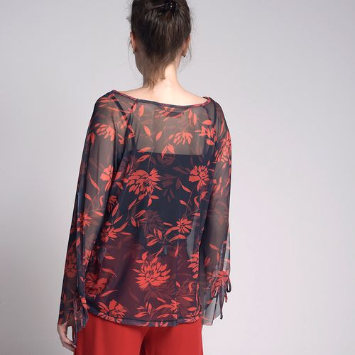 Blusa-Tule-Ampla-BlueFlower-Estampada
