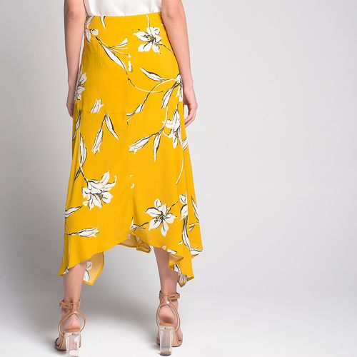 Saia-Midi-Yellow-Flower-Estampada